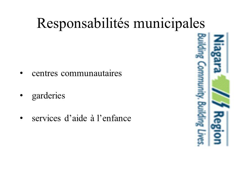 Responsabilités municipales centres communautaires garderies services daide à lenfance