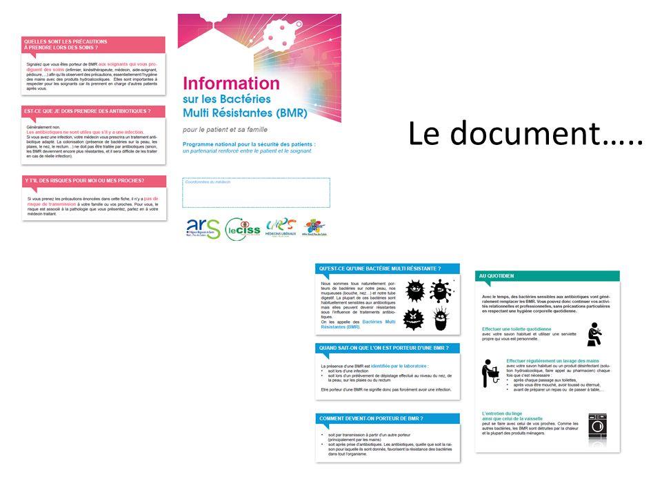 Le document…..