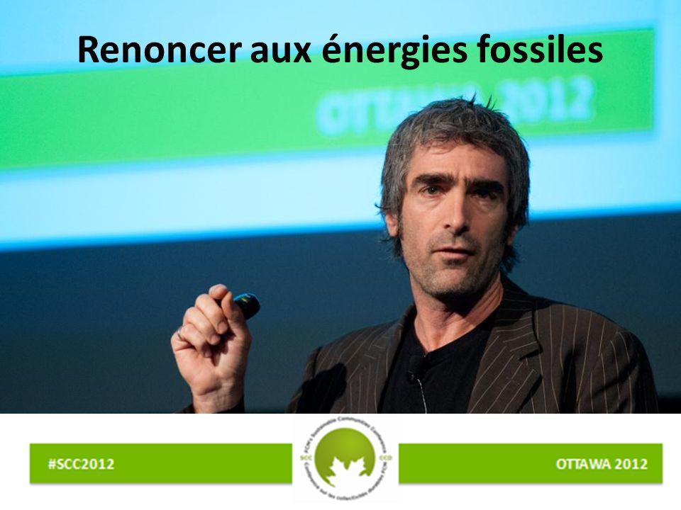 Renoncer aux énergies fossiles