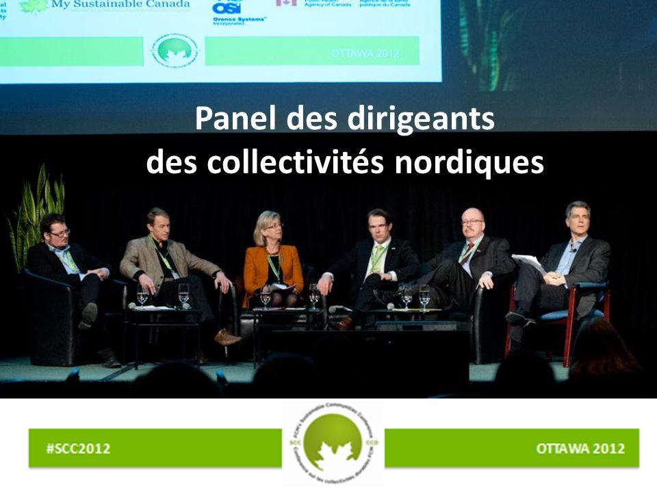 Panel des dirigeants des collectivités nordiques