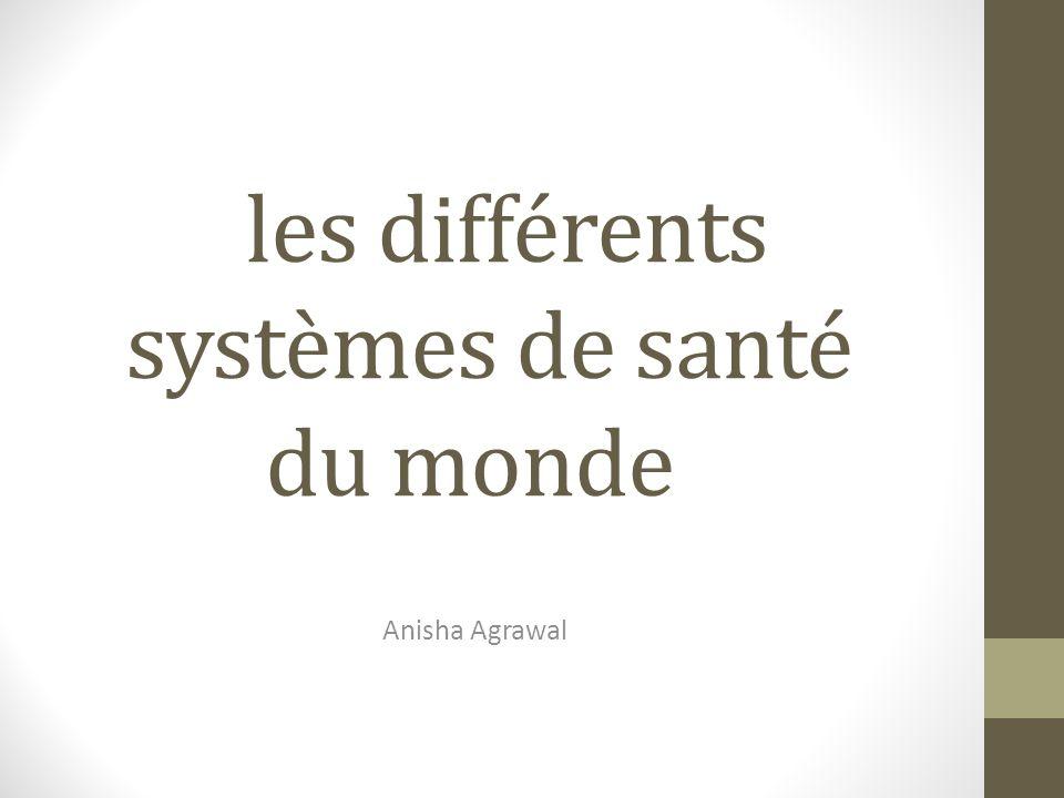 les différents systèmes de santé du monde Anisha Agrawal
