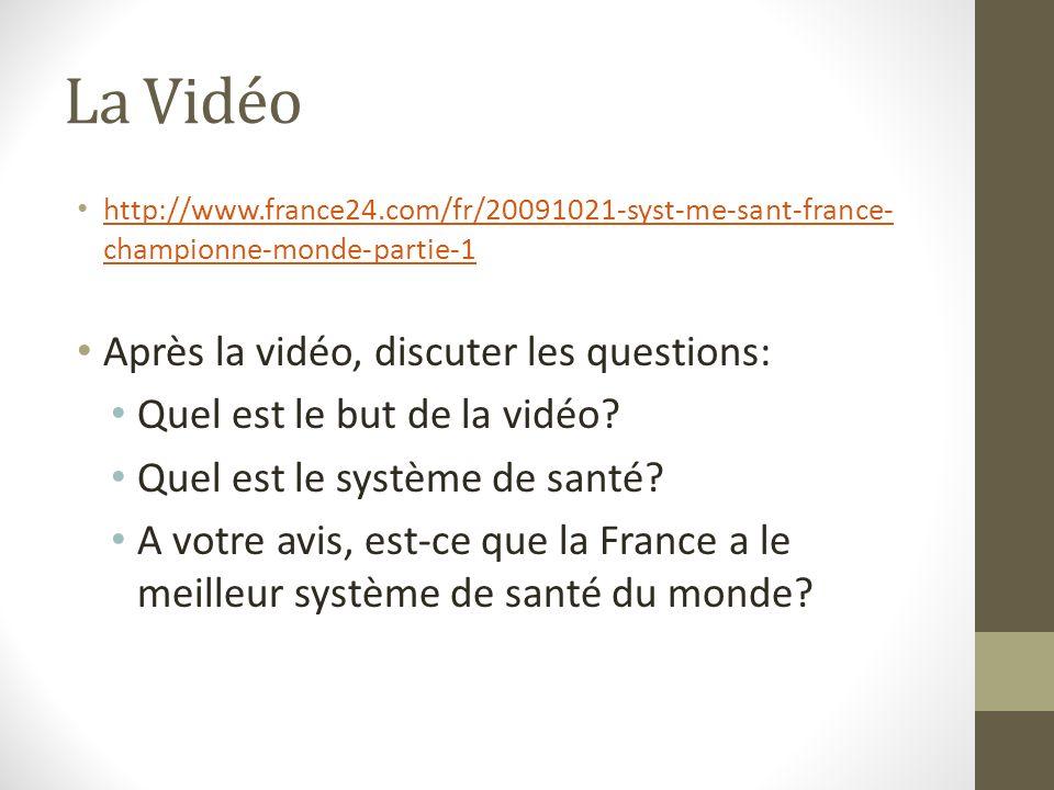 La Vidéo http://www.france24.com/fr/20091021-syst-me-sant-france- championne-monde-partie-1 http://www.france24.com/fr/20091021-syst-me-sant-france- c