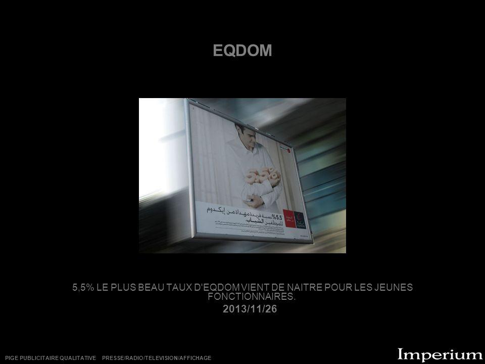 EQDOM 5,5% LE PLUS BEAU TAUX D EQDOM VIENT DE NAITRE POUR LES JEUNES FONCTIONNAIRES.