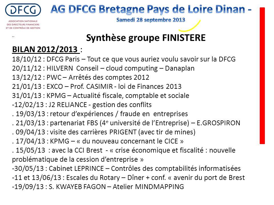 BILAN 2012/2013 : 18/10/12 : DFCG Paris – Tout ce que vous auriez voulu savoir sur la DFCG 20/11/12 : HILVERN Conseil – cloud computing – Danaplan 13/