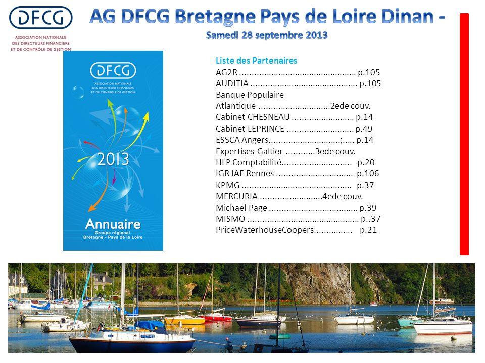 Liste des Partenaires AG2R................................................. p.105 AUDITIA............................................. p.105 Banque Po