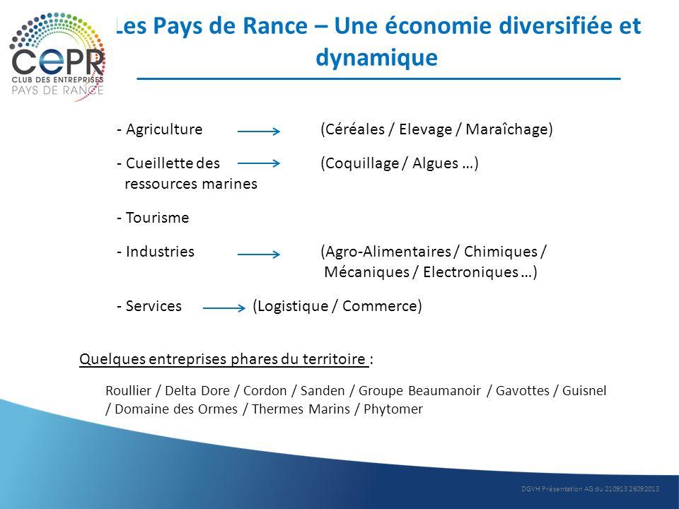 Les Pays de Rance – Une économie diversifiée et dynamique - Agriculture(Céréales / Elevage / Maraîchage) - Cueillette des (Coquillage / Algues …) ress