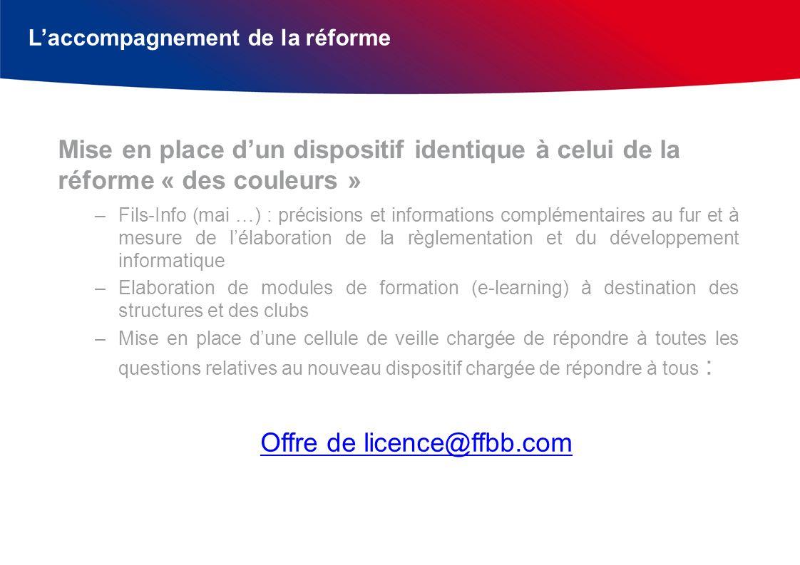 Laccompagnement de la réforme –Fils-Info (mai …) : précisions et informations complémentaires au fur et à mesure de lélaboration de la règlementation