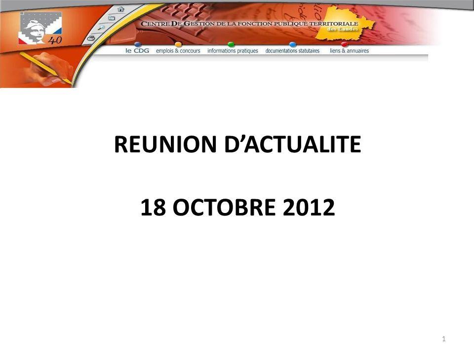 REUNION DACTUALITE 18 OCTOBRE 2012 1