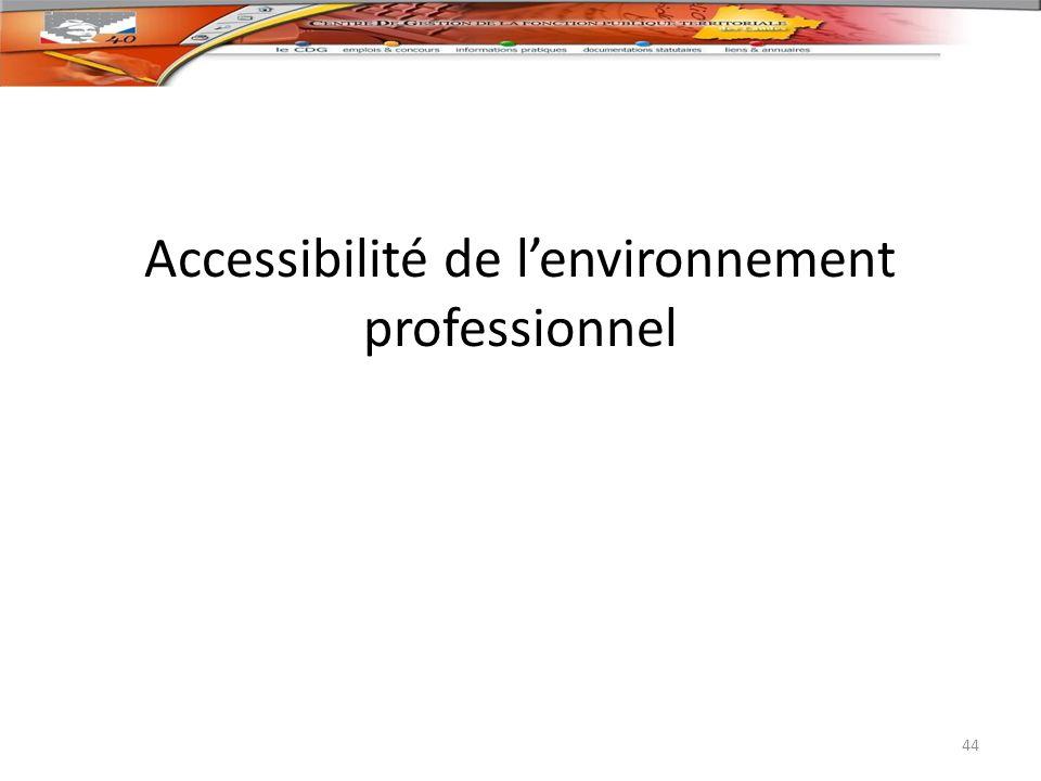 Accessibilité de lenvironnement professionnel 44