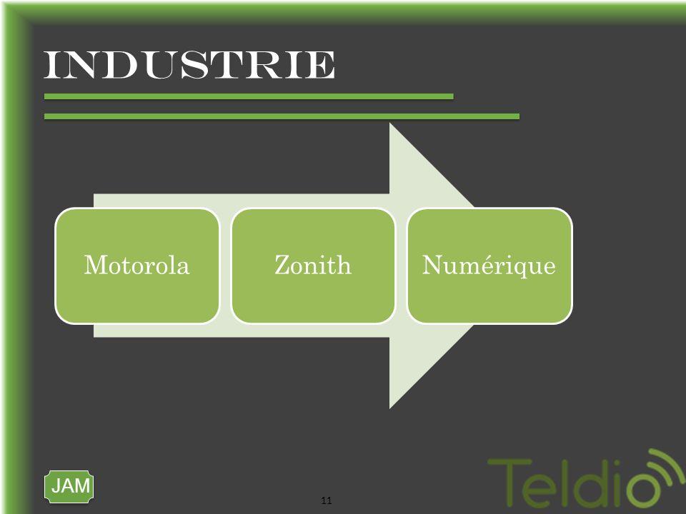 JAM 11 industrie MotorolaZonithNumérique