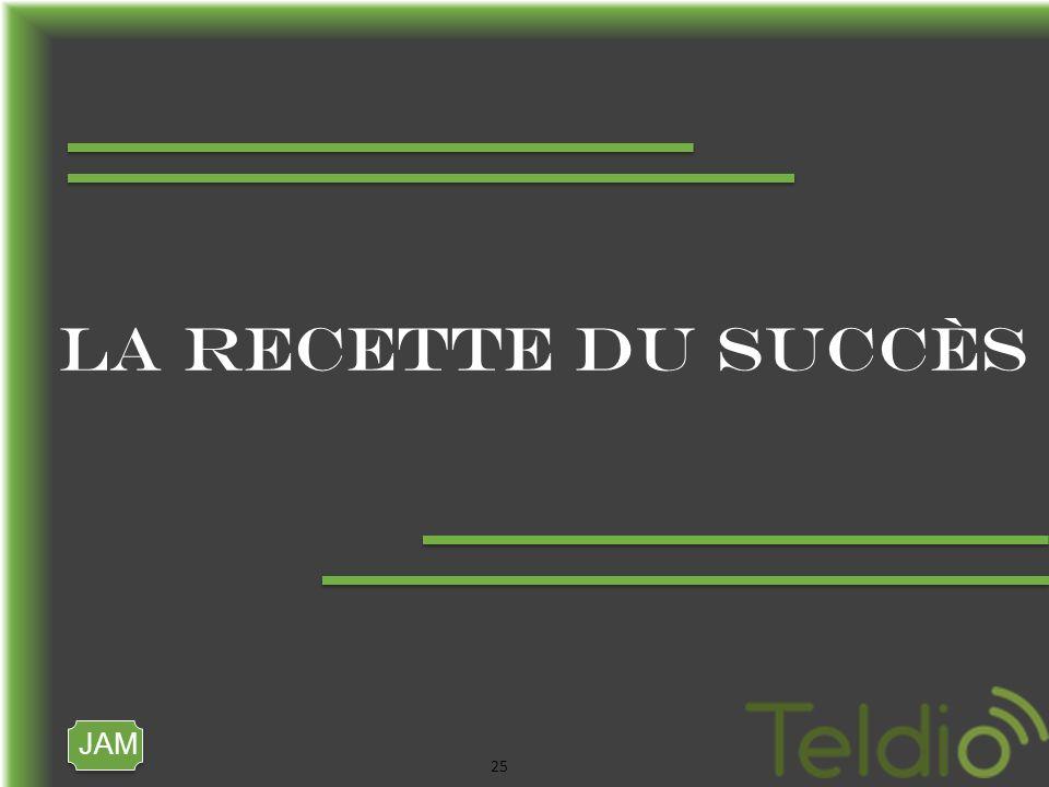 JAM 25 LA RECETTE DU SUCCÈS