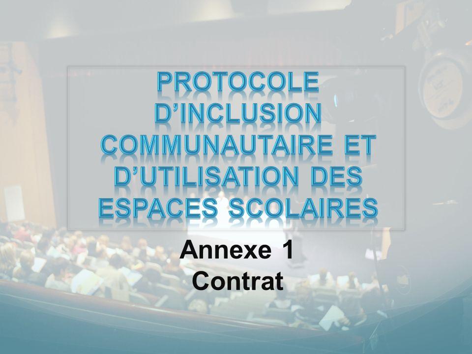 Annexe 1 Contrat