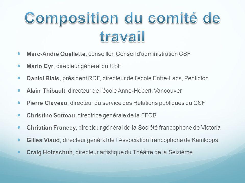 Marc-André Ouellette, conseiller, Conseil d'administration CSF Mario Cyr, directeur général du CSF Daniel Blais, président RDF, directeur de lécole En