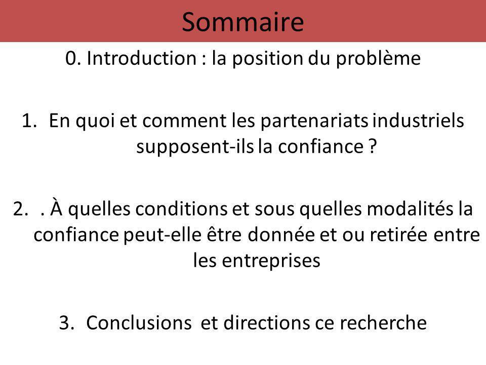 1.En quoi et comment les partenariats industriels supposent-ils la confiance .