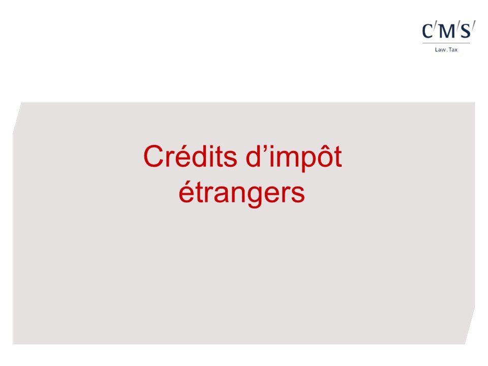 Crédits dimpôt étrangers