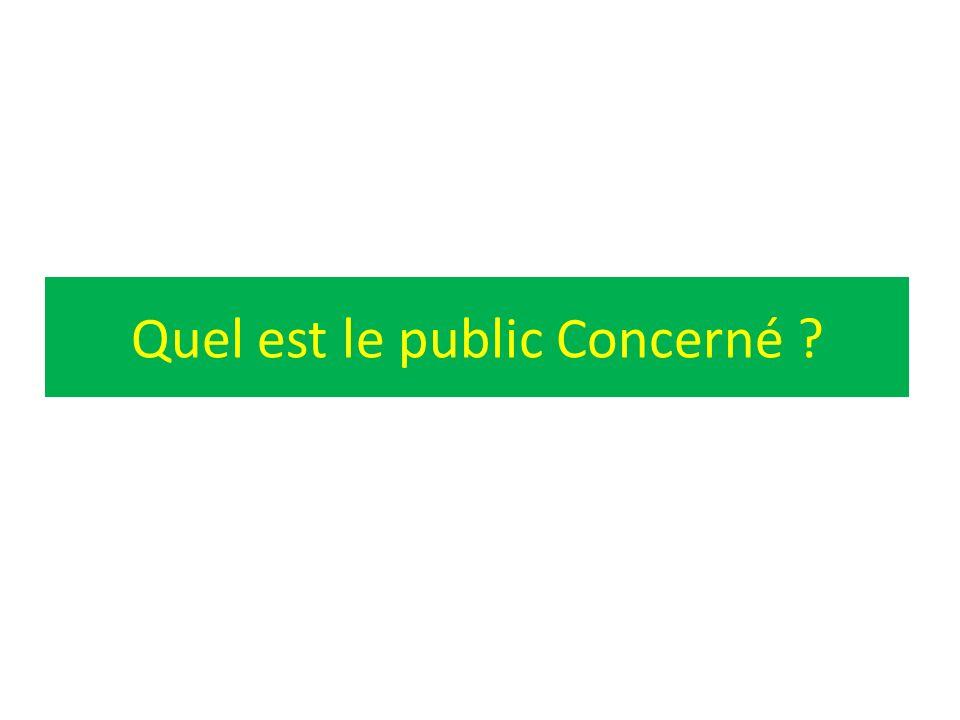 Quel est le public Concerné ?