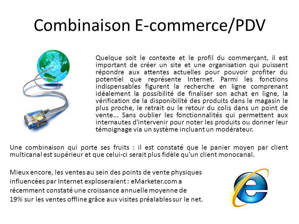 Combinaison E-commerce/PDV Quelque soit le contexte et le profil du commerçant, il est important de créer un site et une organisation qui puissent rép