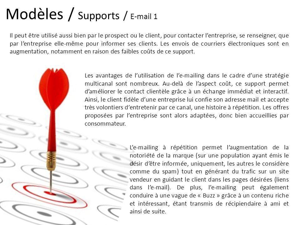 Modèles / Supports / E-mail 1 Il peut être utilisé aussi bien par le prospect ou le client, pour contacter lentreprise, se renseigner, que par lentrep
