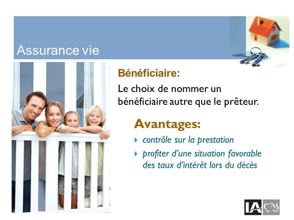 Assurance vie Bénéficiaire: Le choix de nommer un bénéficiaire autre que le prêteur.
