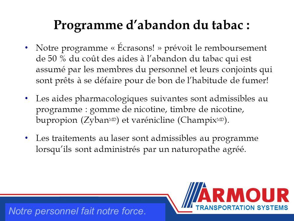 Programme dabandon du tabac : Notre programme « Écrasons.