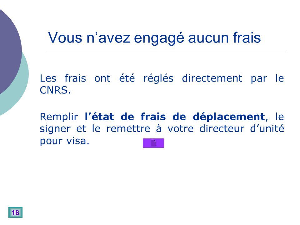 16 Les frais ont été réglés directement par le CNRS.
