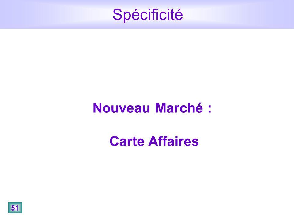 51 Spécificité Nouveau Marché : Carte Affaires