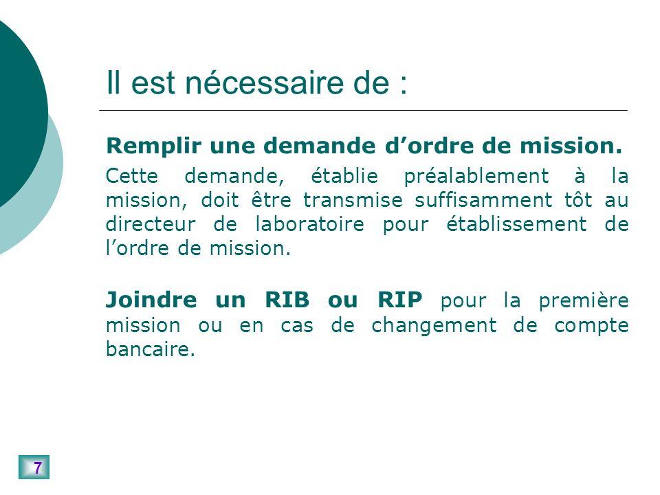 38 Remboursement des frais dinscription à un colloque Rappel du principe : Les frais dinscription doivent normalement être réglés directement par le CNRS à lorganisateur du colloque.