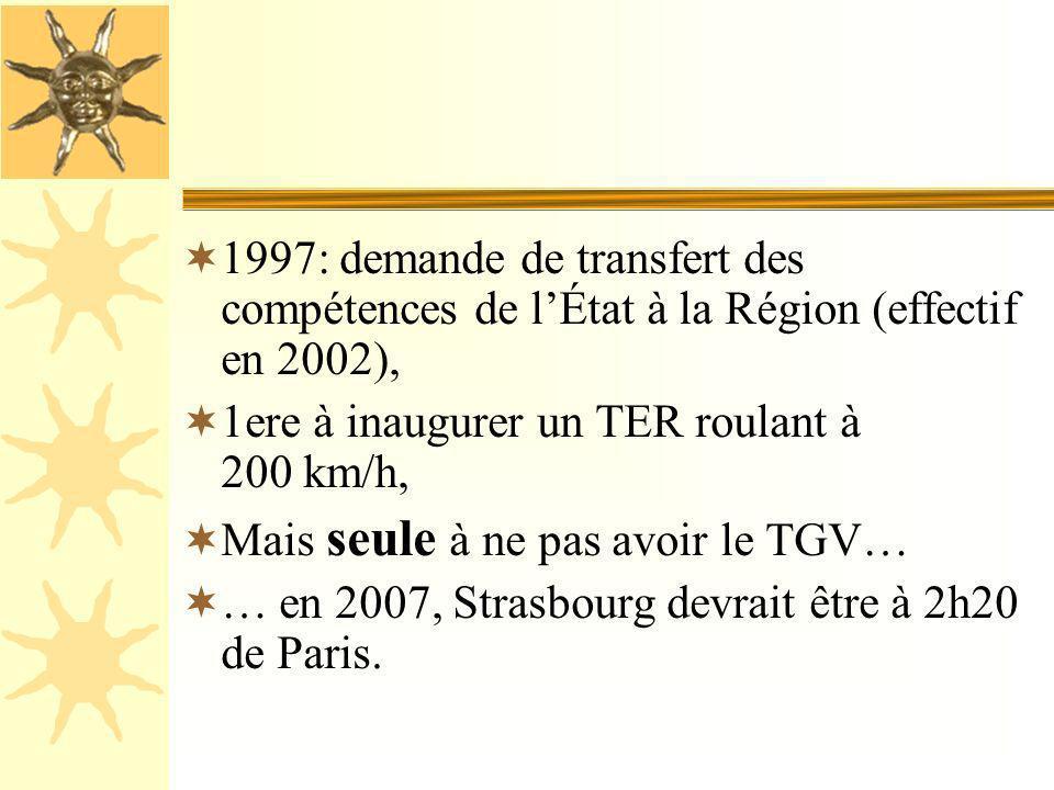 PARTICULARISME N° 9: PARTICULARISME N° 9: LES TRANSPORTS Contrairement au reste de la France, les trains roulent à droite en Alsace, au diapason allem