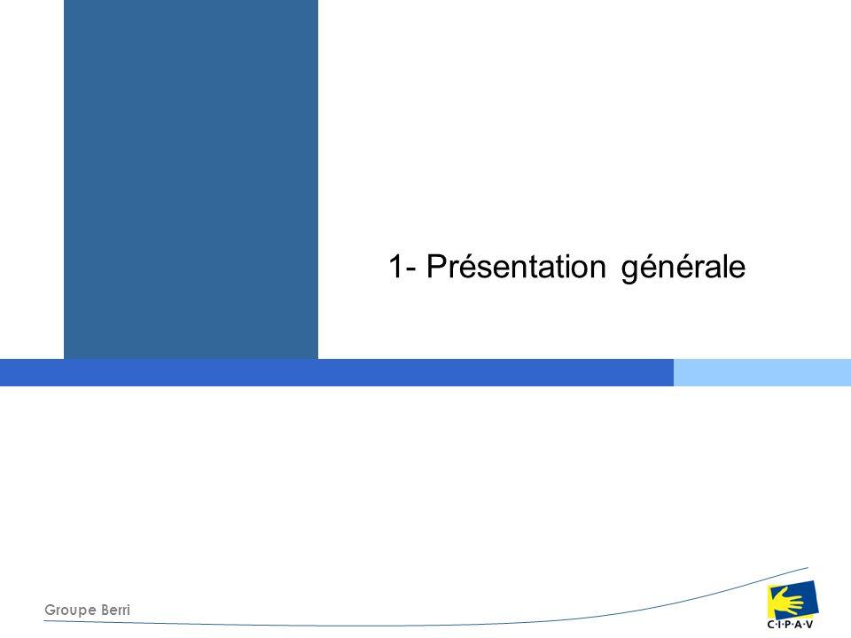 Groupe Berri Le régime de retraite complémentaire La retraite –Le taux Taux plein à partir de 60 ans si 160 trimestres dassurance tous régimes confondus ( augmentation après 2008) et bénéficiant de la retraite de base, ou inaptitude Taux plein à partir de 65 ans, sans condition de durée dactivité Abattement de 1,25 % par trimestre manquant entre 60 et 65 ans si pas 160 trimestres et si bénéficiaire de la retraite de base dans les mêmes conditions Majoration de 5 % par année pleine de différé( appliquée sur les points acquis sur les 30 premières années de cotisations), sous certaines conditions.