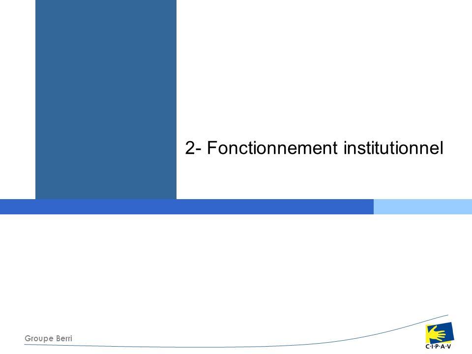 Groupe Berri 2- Fonctionnement institutionnel