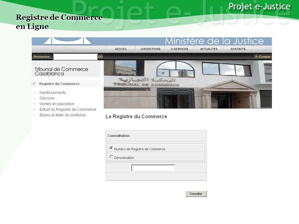 Projet e-JusticeYounès EL MECHRAFIPage n°16 Registre de Commerce en Ligne