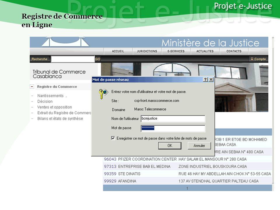 Projet e-JusticeYounès EL MECHRAFIPage n°17 Registre de Commerce en Ligne