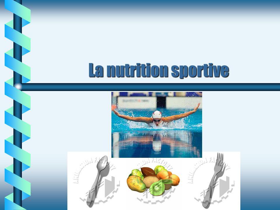 Alimentation 3-4 heures avant b Prendre une collation 30-45 minutes avant l exercice