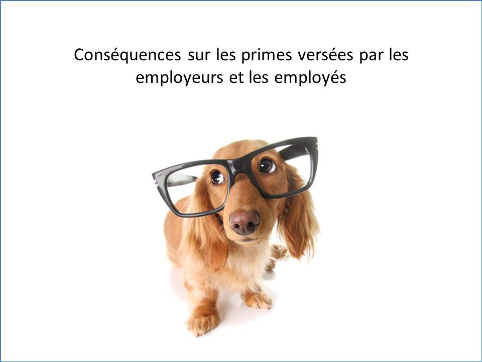 Conséquences sur les primes versées par les employeurs et les employés