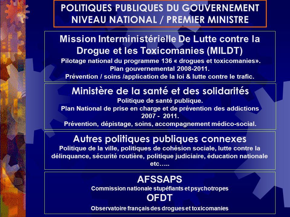 Mission Interministérielle De Lutte contre la Drogue et les Toxicomanies (MILDT) Pilotage national du programme 136 « drogues et toxicomanies». Plan g