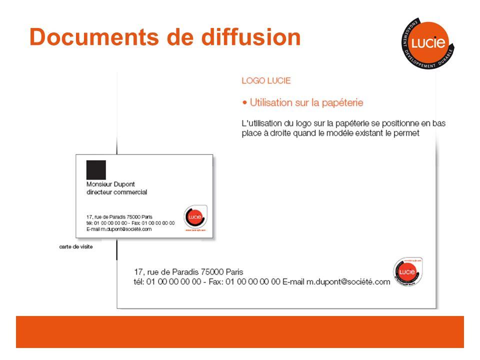 Documents de diffusion