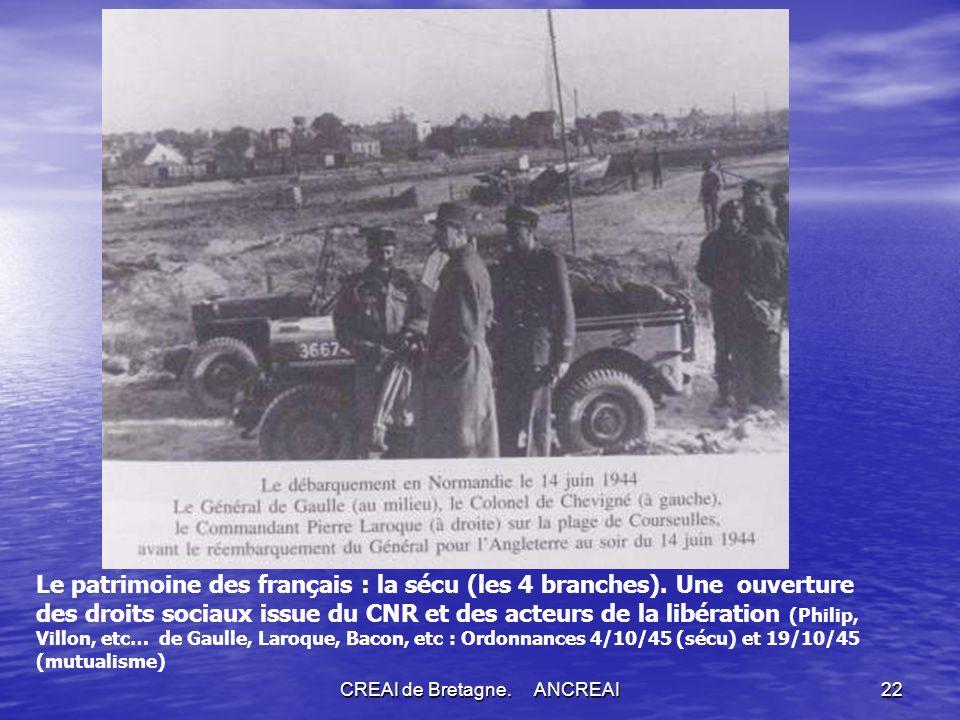 CREAI de Bretagne.ANCREAI22 Le patrimoine des français : la sécu (les 4 branches).