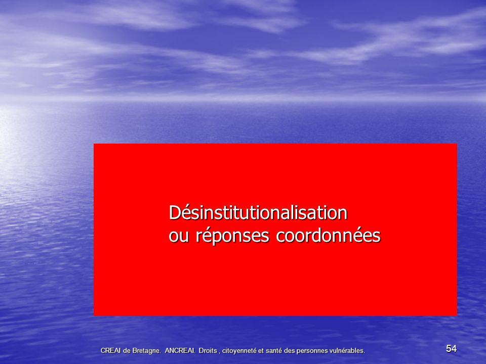54 Désinstitutionalisation ou réponses coordonnées