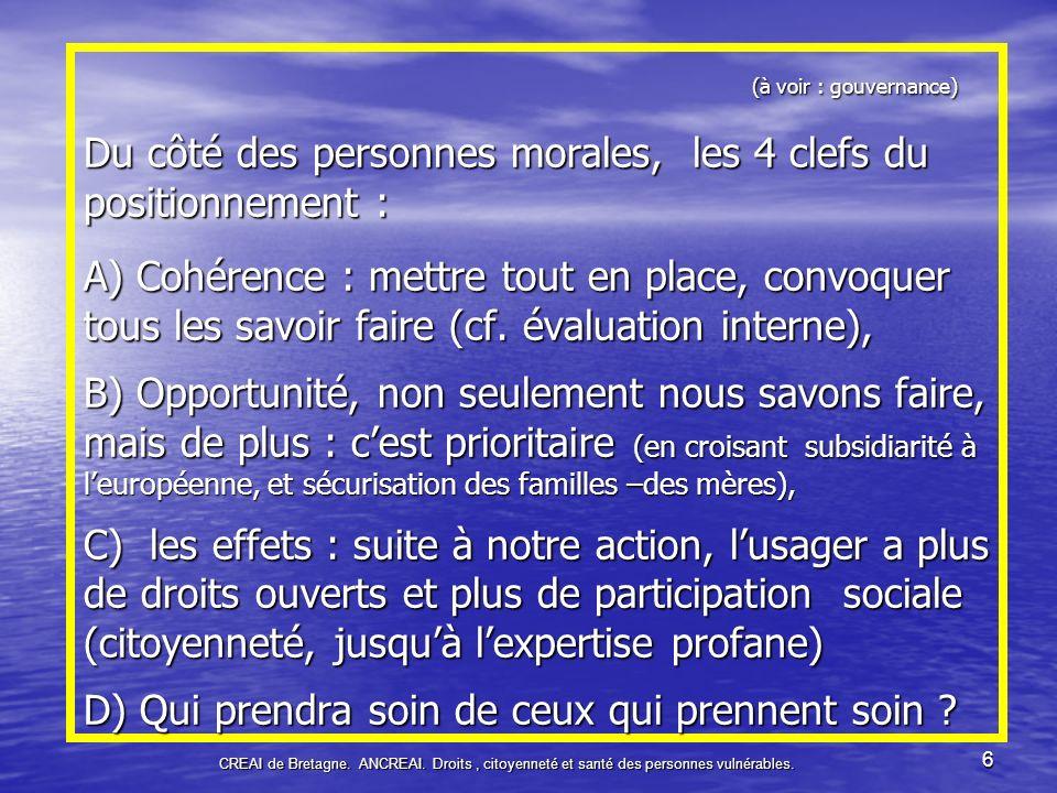 CREAI de Bretagne.ANCREAI17 Les choix de la solidarité nationale.