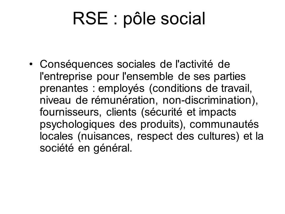 RSE et gouvernance Fournir lorientation stratégique afin de sassurer que les objectifs éthiques soient atteints, que les risques soient gérés, que les ressources soient utilisées dans un esprit responsable en connaissance de cause