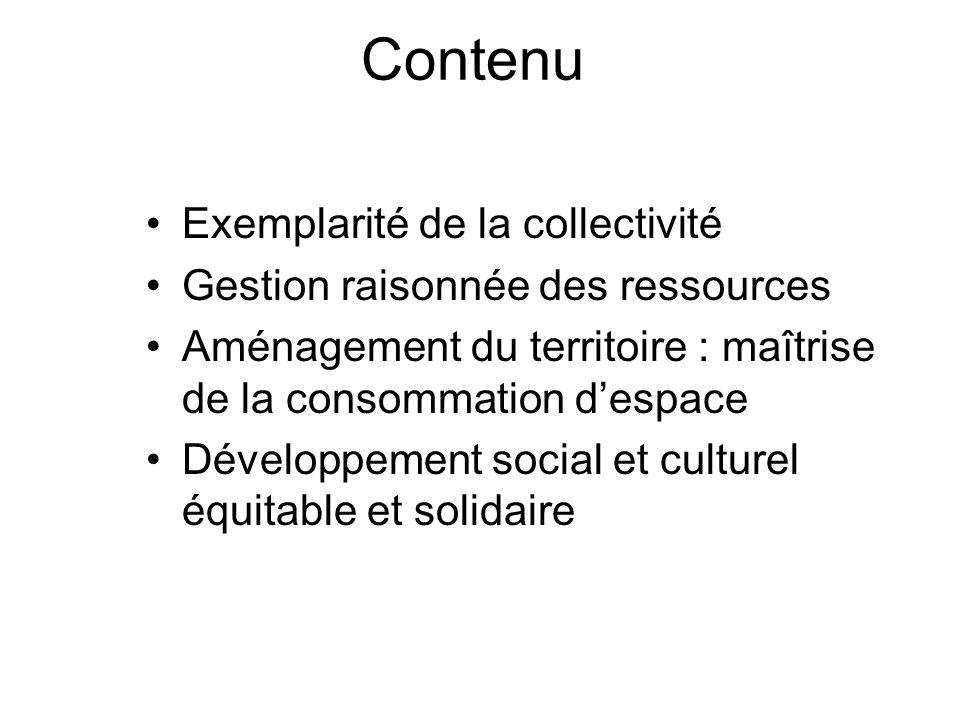 Contenu Modification des modes de consommation et de production Développement des transports propres et dune mobilité durable Solidarité internationale et coopération décentralisée Démocratie locale participative