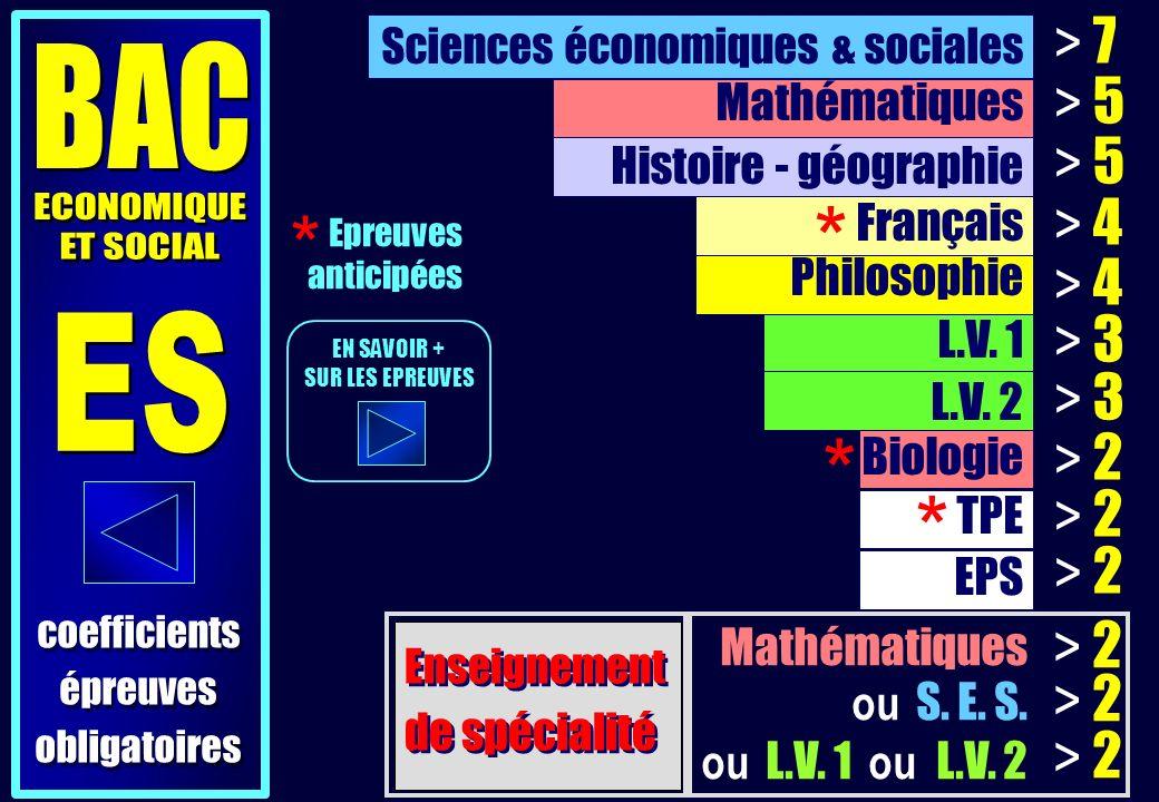 Mathématiques ou S. E. S. ou L.V. 1 ou L.V.