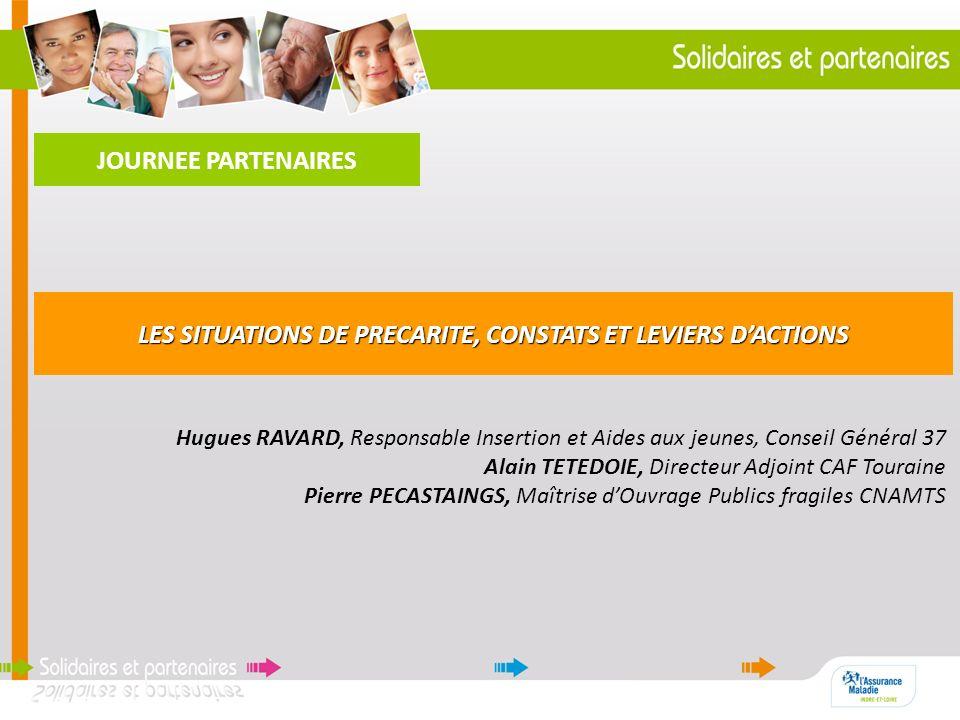 JOURNEE PARTENAIRES Hugues RAVARD, Responsable Insertion et Aides aux jeunes, Conseil Général 37 Alain TETEDOIE, Directeur Adjoint CAF Touraine Pierre