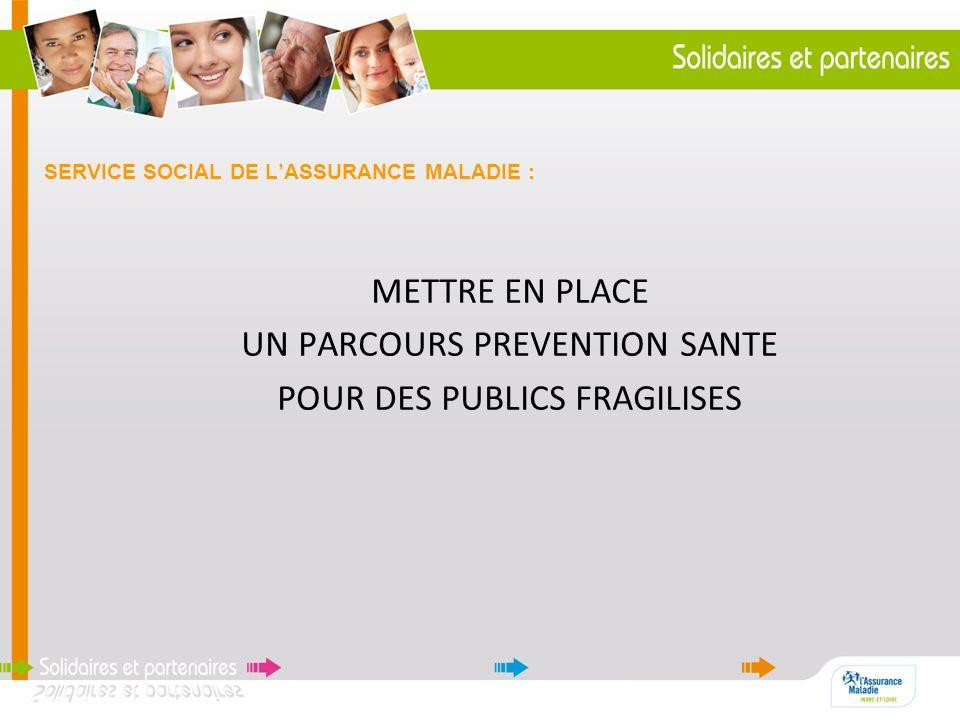 SERVICE SOCIAL DE LASSURANCE MALADIE : METTRE EN PLACE UN PARCOURS PREVENTION SANTE POUR DES PUBLICS FRAGILISES