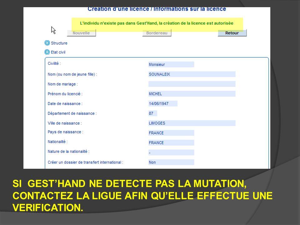 UNE FOIS LA MUTATION VALIDEE : -2 PROCEDURES SONT MISES EN PLACE -1° AVANT FIN JUIN 2009 -2° APRES LE 30 JUIN 2009