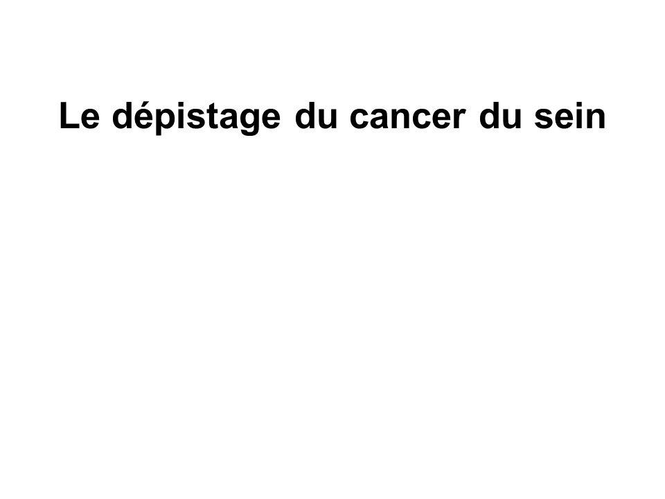 Le dépistage du cancer du sein