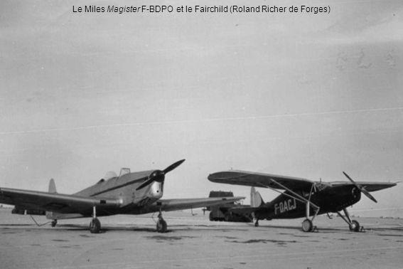 Le Miles Magister F-BDPO et le Fairchild (Roland Richer de Forges)