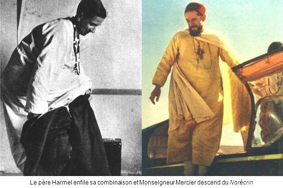 Le père Harmel enfile sa combinaison et Monseigneur Mercier descend du Norécrin