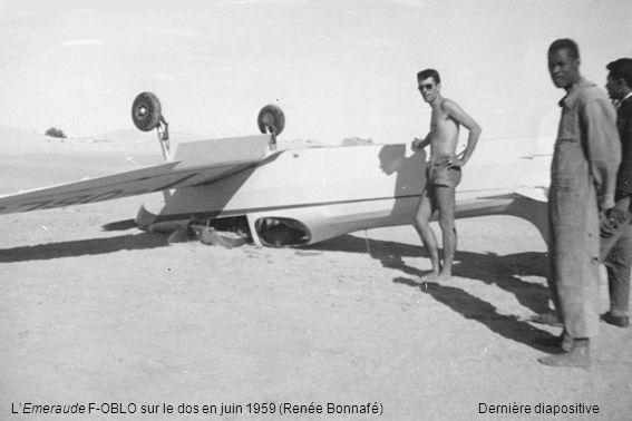 LEmeraude F-OBLO sur le dos en juin 1959 (Renée Bonnafé) Dernière diapositive
