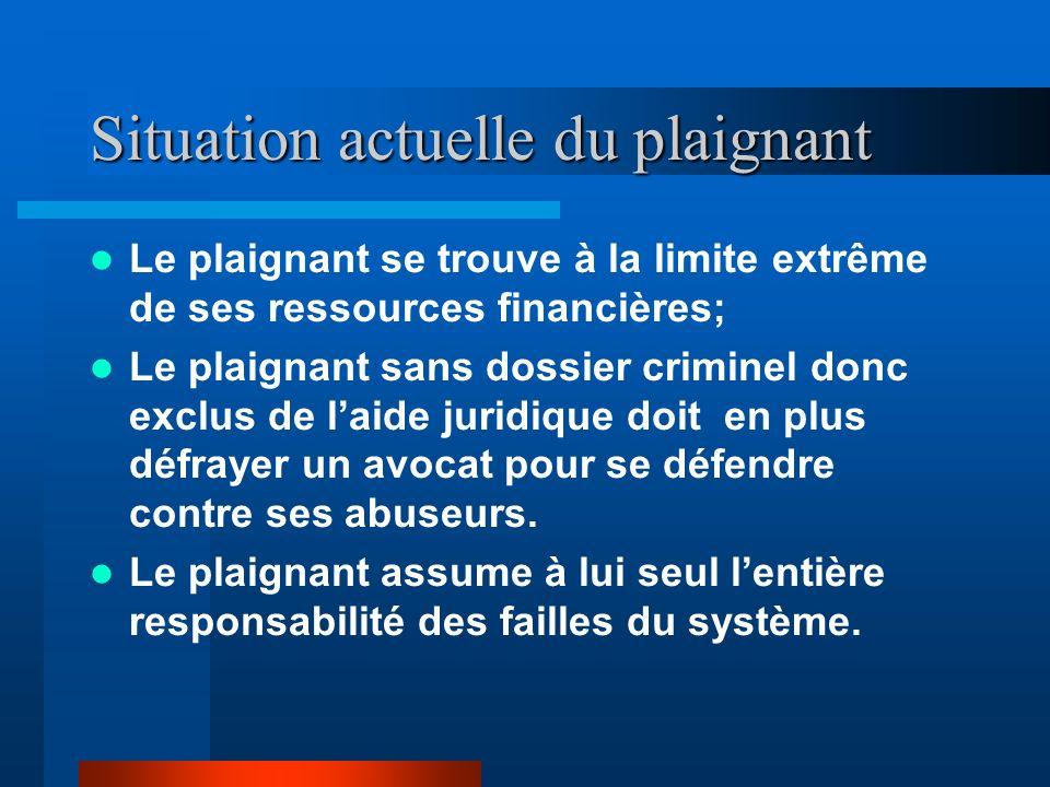 Des gestes criminels Ensuite on porte des accusations criminelles sans fondement ni la moindre preuve dintention.